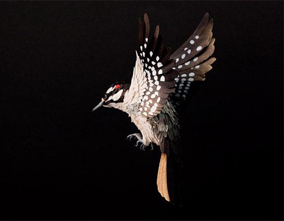 Life-size 3D Paper Birds from Diana Beltran Herrera