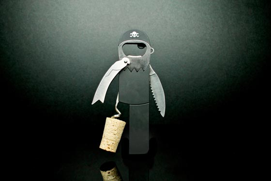 Legless Pirate Corkscrew and Bottle Opener