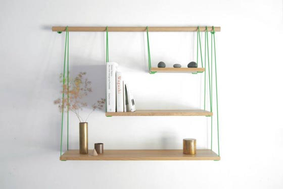 Bridge: Minimalism Shelving Unit Inspired by Suspension Bridge