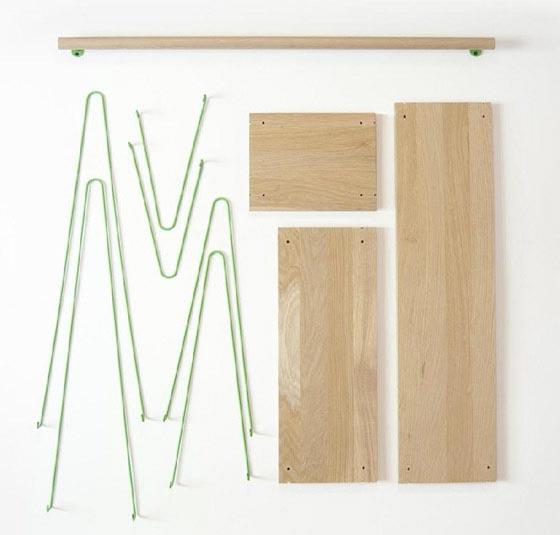 Bridge: Minimalism Shelving Unit Inspired by Suspension Bridge