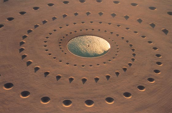 Desert Breath: Land Art Installation in the Sahara Desert