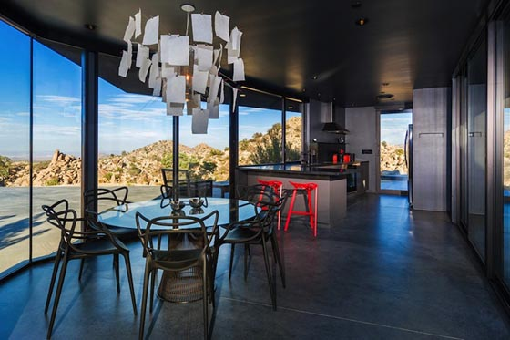 Spectacular Black House in Mojave Desert