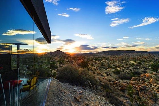 Spectacular Black House in Mojave Desert