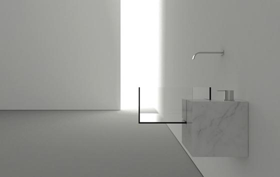 Minimalist Bathroom Glass Sink with Surreal looking