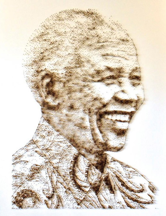 Amazing Hammer & Nail Stippling Artworks by David Foster