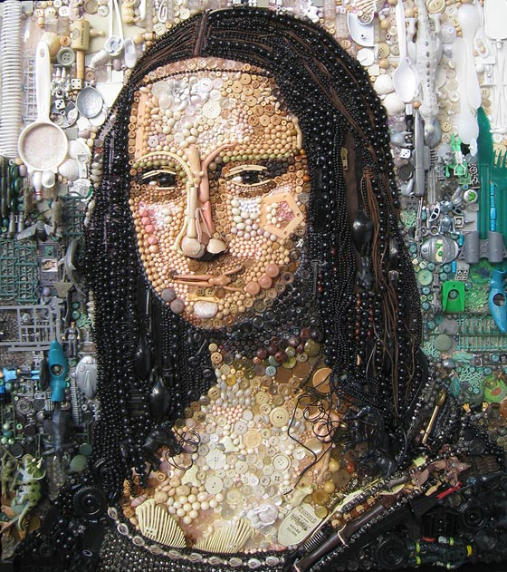 Stunning Portraits Made of Hundreds of Found Objects by Jane Perkins