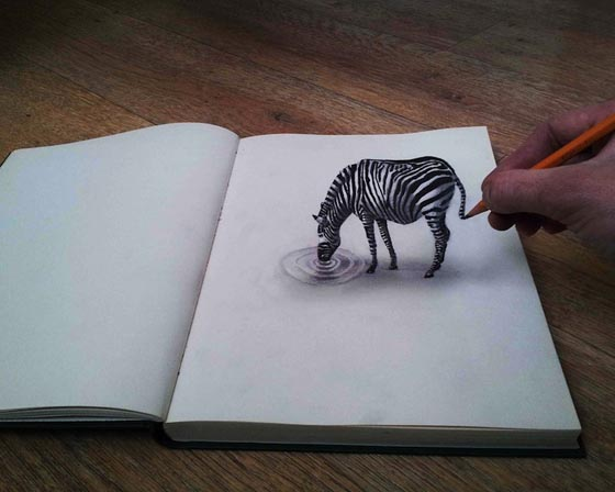 Optical Illusion: New 3D Illustrations by Ramon Bruin