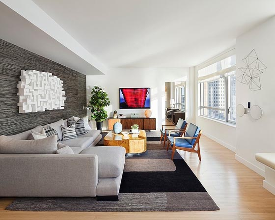 Sophisticated Duplex Bachelor Pad in New York