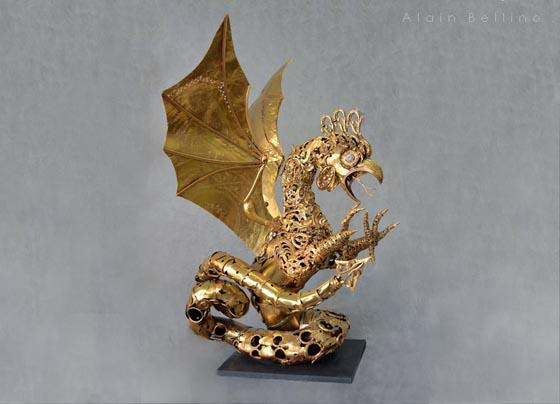 Beautifully Detailed Metal Sculptures by Alain Bellino