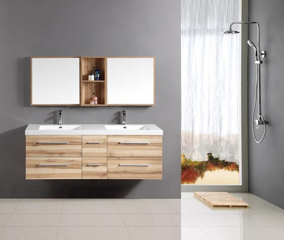 24 modern floating bathroom vanities and sink consoles for Floating vanity design