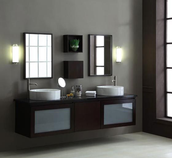 24 modern floating bathroom vanities and sink consoles design swan for Contemporary bathroom sinks and vanities