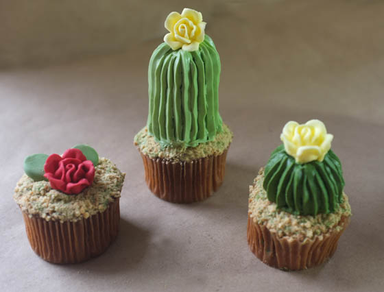 Realistic House Plant Cupcake by Alana Jones-Mann
