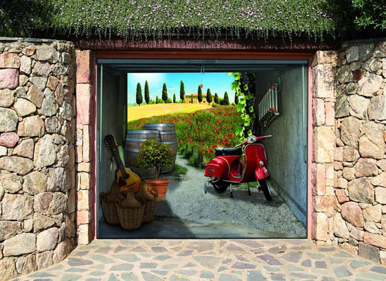 Style your Garage: Creative 3D Garage Doors Stickers