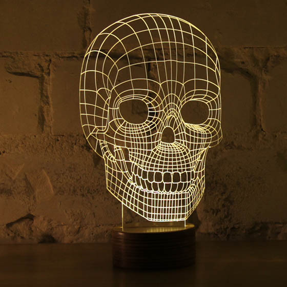 Bulbing: Optical Illusion 2D LED Lamp Looks Like 3D