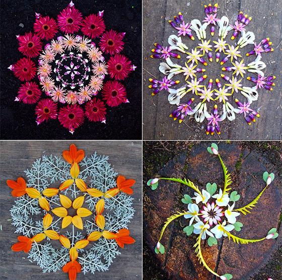 Beautiful Flower Mandalas Created by Kathy Klein