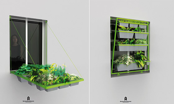 Volet végétal: a Creative Plant Holder for People Live without Gardens and Balcony