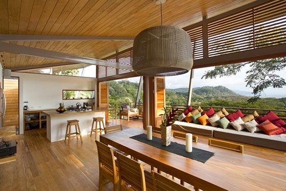 Flotanta House: Exotic Wooden House Floating Above The Hillside