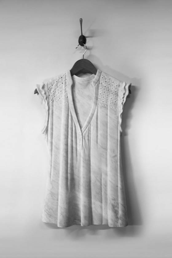 Marble Dress: Airy Dress Carved from Marble