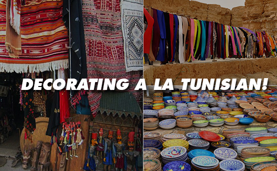 Decorating a la Tunisian!