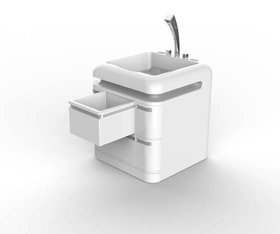 Q-Compact Toilet: Washbasin +  Toilet + Shower