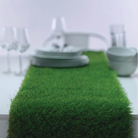 Grass On Dinning Table Artificial Grass Table Runner