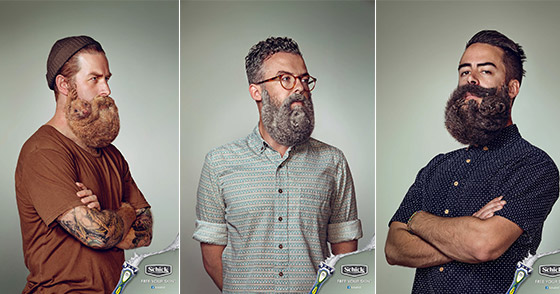 Free Your Skin: Creative Beards Campaign from Schick