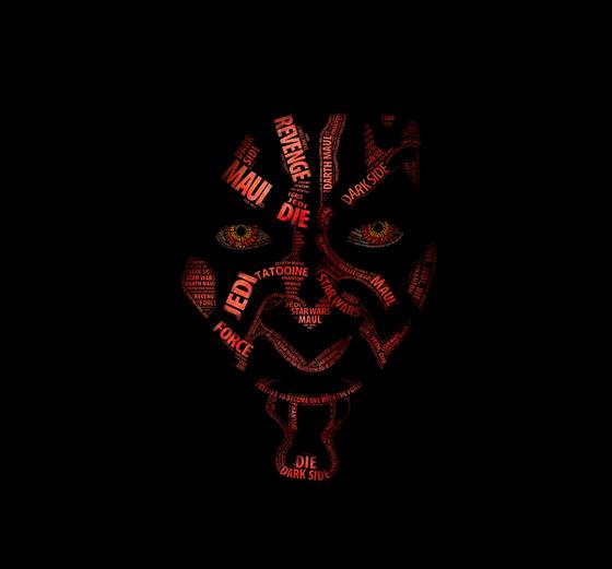 Simply Awesome Star Wars Typographic Portraits by Vladislav Poliakov