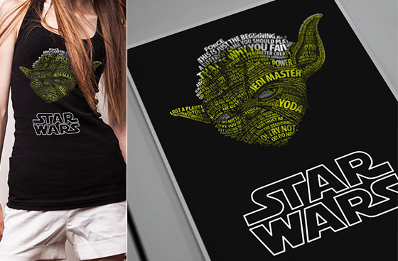 Simply Awesome Star Wars Typographic Portraits by Vladislav Poliakov