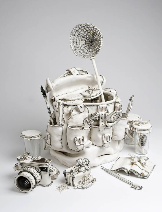 Unusual Paper-like Ceramic Sculpture by Katharine Morling