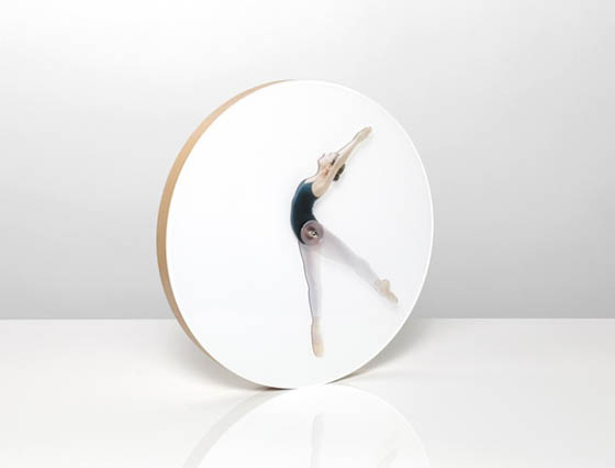 Time Is Dancing: Creative Ballerina Poses Clock