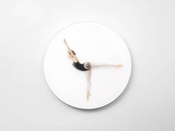 Time Is Dancing: Creative Ballerina Poses Clock