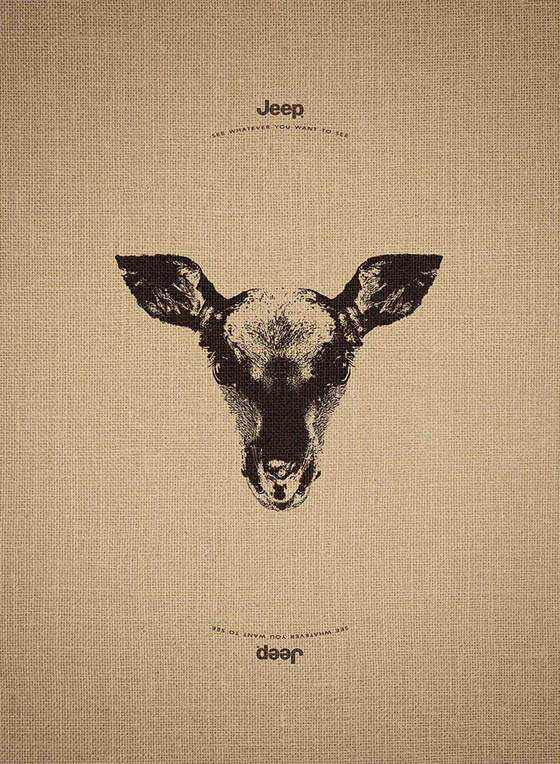 Creative Jeep Ad Campaign: See Whatever You Want to See