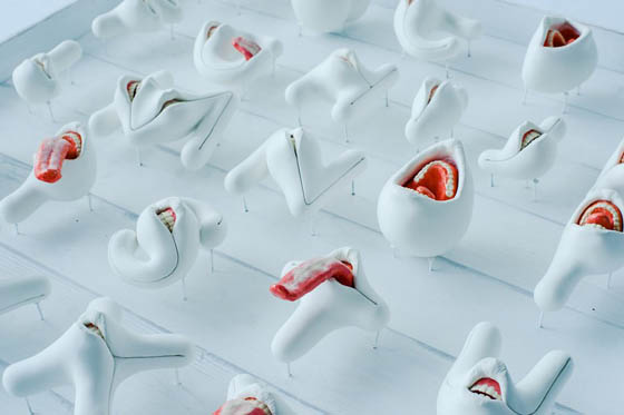 Creepy 3D Oral Alphabet by Takayuki Ogawa
