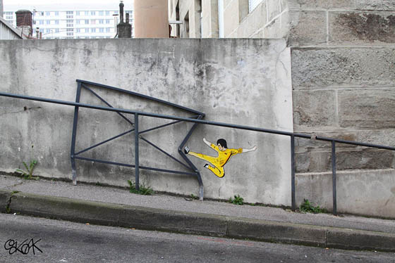 Playful and Witty Street Art by oakoak