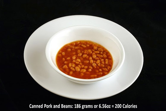 What 200 Calories Looks Like in Certain Foods