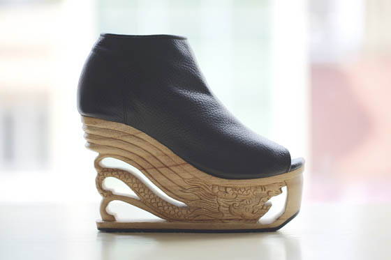 Walkable Art: Dragon Shoes Inspired by Ancient Vietnamese Wood Art