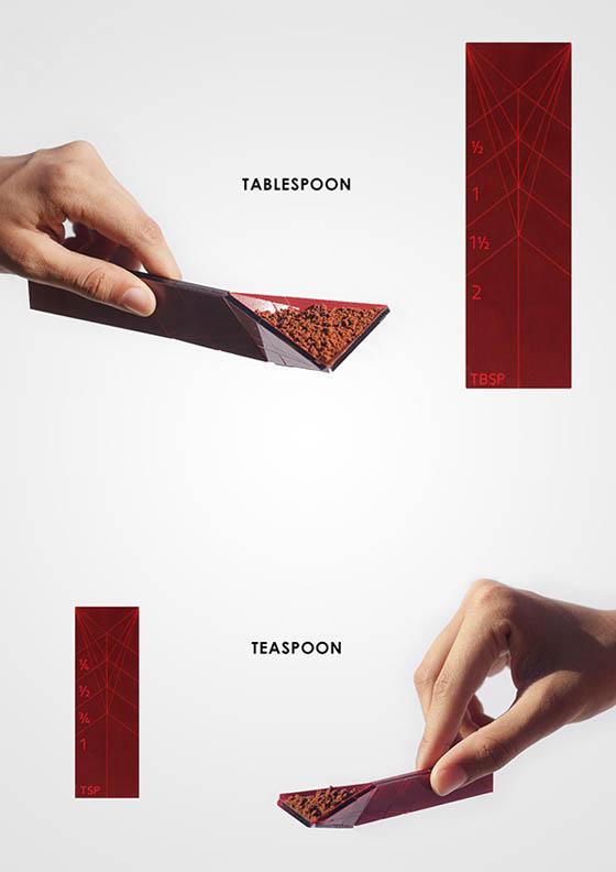 Polygon Measuring Spoon: Innovative Flat Measuring Spoon