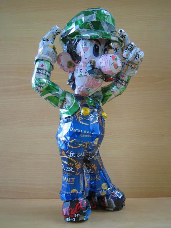 Pop Culture Icons Made of Aluminum Cans