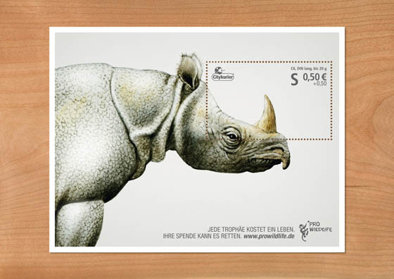 Creative Donation Stamp for Pro Wildlife