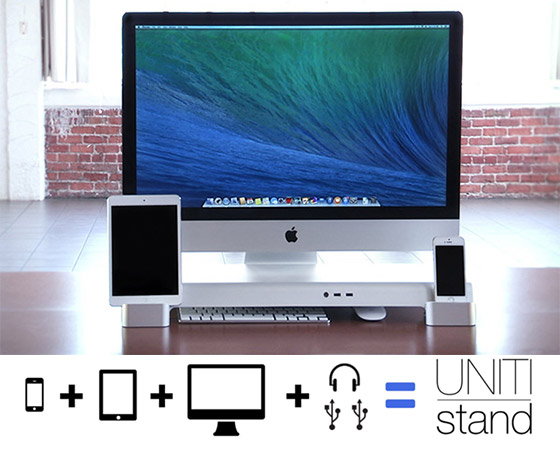 UNITI Stand: Organize your Desk, Display and Charge your Device