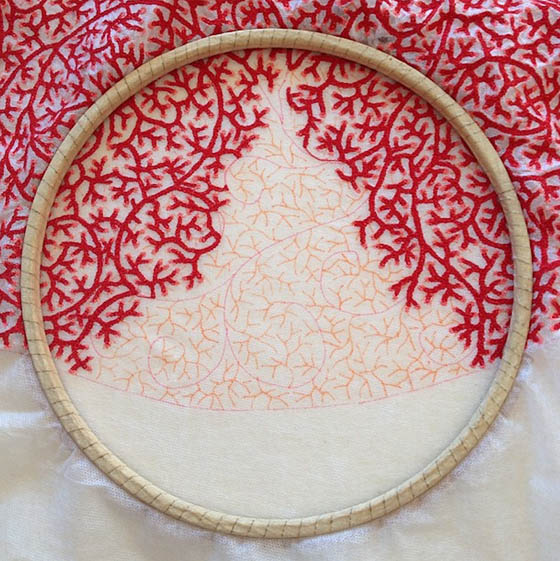 Elaborate Embroideries Mimic Delicate Natural Forms