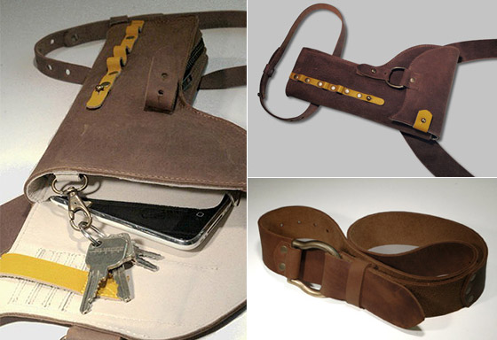 Y01 of Dayne Jewell: Handgun Holster Shape Leather Bag