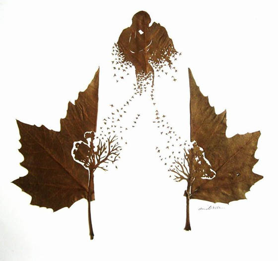 Stunning Intricate Leaf Cutting Art by Omid Asadi