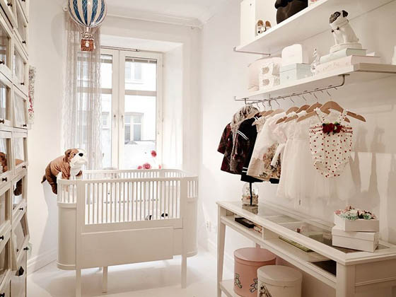 Delightful Scandinavian Apartment With a Beautiful Baby Room