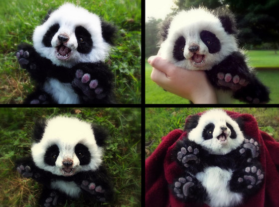 Super Realistic Baby Animal Plush Toys