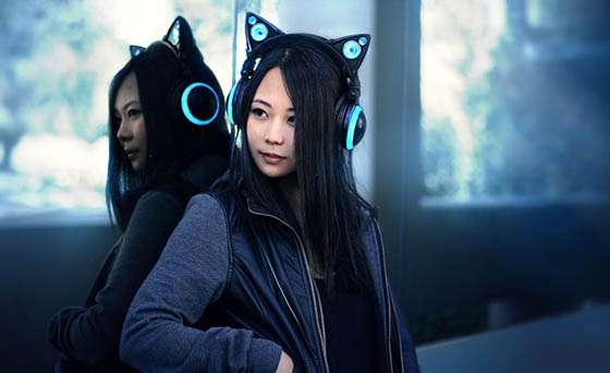Axent Wear: Cute Cat Ear Headphones with LED lights