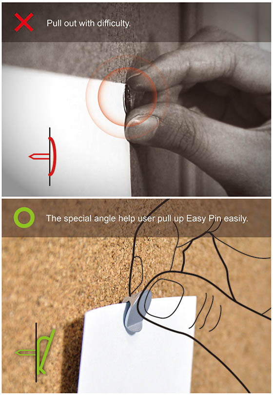 Easy Pin: a Smart Design Combines Clip and Pushpin