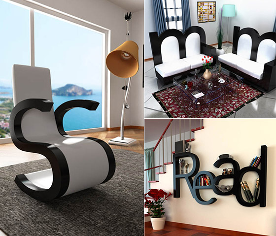Attrayant Alphabet Inspired Furniture Design By Claudio Scotto