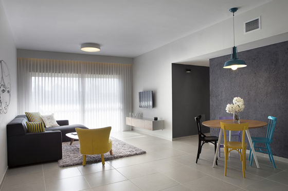 Minimalist and Modern Apartment Design in Israel