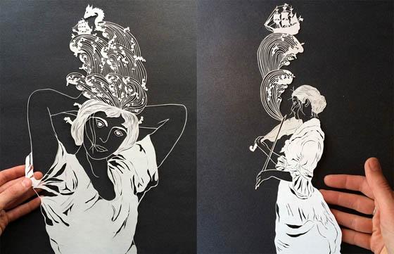 Stunning Intricate Paper-cut Art by Maude White